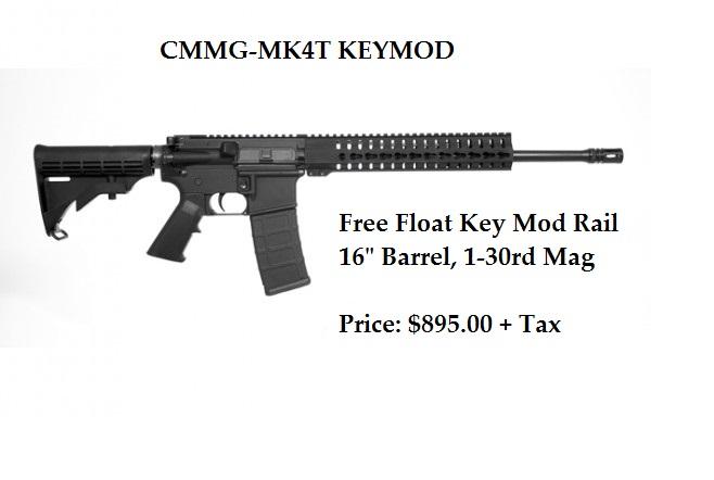 CMMG-MK4-T-keymod rail CST$797 RTL$890.99